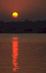 Sunrise, Ganges River in India
